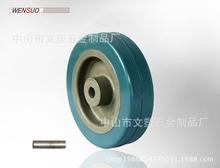 4寸灰膠單輪 100X27灰輪 灰膠系列輪 塑料單輪