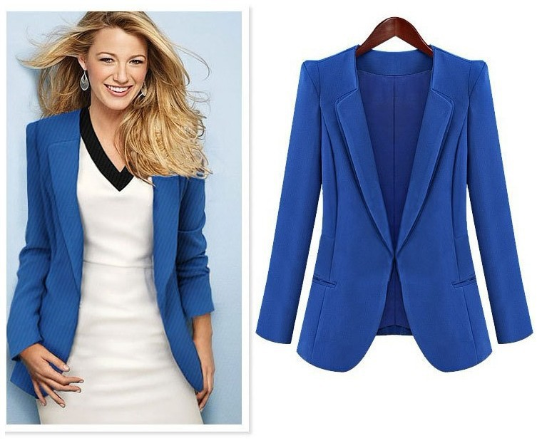 3007b145be Find More Blazers Information about New Spring 2018 Women Blazers plus size  fashion female slim blazer Ol Candy Color suit jacket ladies office coat  Maxi ...