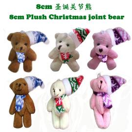 8cm Christmas joint bear / Christmas bow tie bear / nude bear hot cartoon bouquet doll / bag pendant super soft material