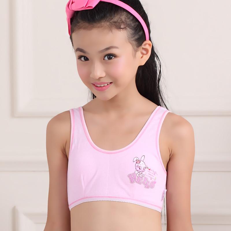 Wholesale girls cotton bra brand development of students no rims bust bra  underwear factory outlets 5b9827418