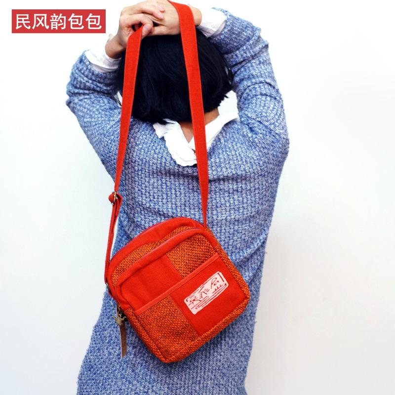 包包2013新款潮女式包单肩包女斜跨小包女麻布 斜跨女包小包