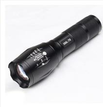 廠家批發 XML T6 LED手電筒 鋁合金L2強光充電變焦自行車燈手電筒