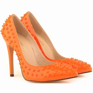 classic pointed lattice-windows nightclub sexy rivet with tide of women's shoes
