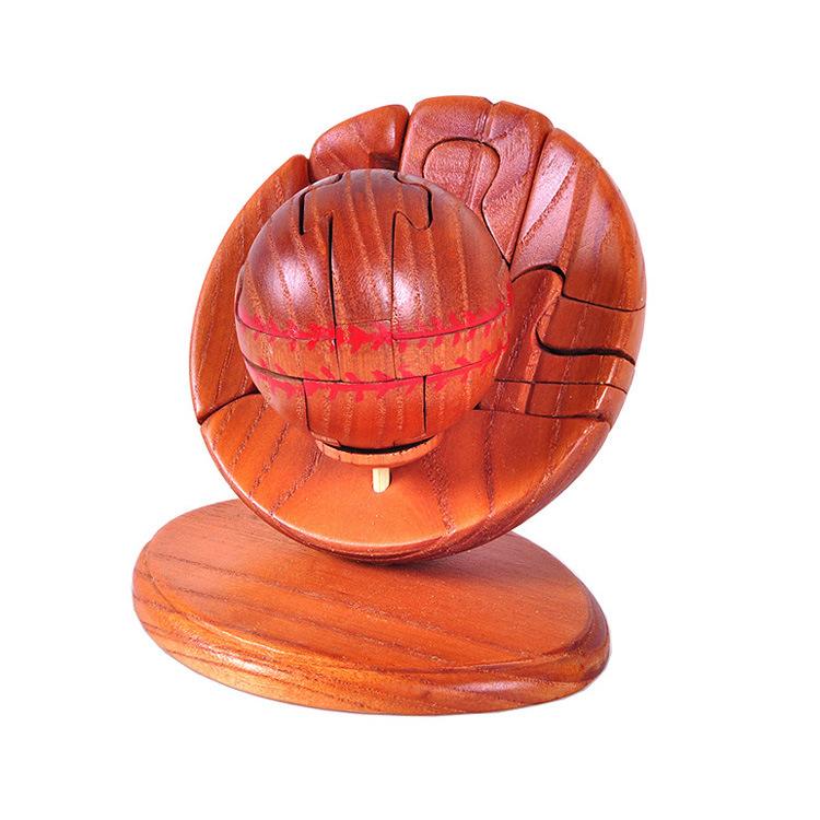 精品工艺品 积木玩具 儿童玩具 木制玩具 积木棒球