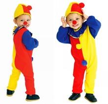 万圣节cosplay服装 儿童小丑服 化妆舞会小丑花童礼服 舞台表演服