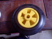 供應橡膠輪9寸質優橡膠220*45橡塑輪