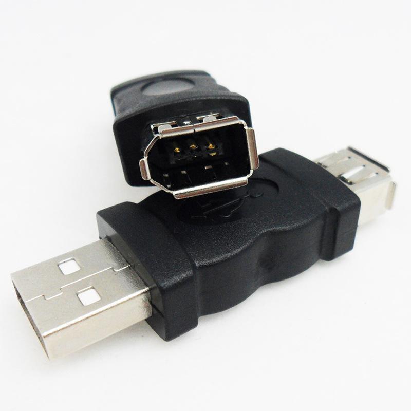 USB转1394 6P转接头USB转火线Firewire 6针USB公转1394转换头批发