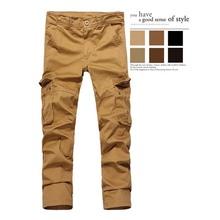 斷碼特價  高檔面料純棉寬松大碼工裝褲 戶外歐美男褲