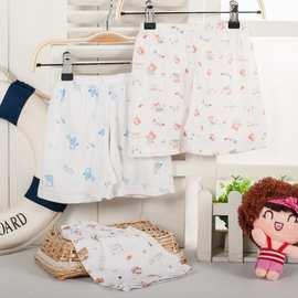 婴幼儿纯棉短裤 0-1岁儿童夏季专用短裤 宝宝开档封档短裤批发