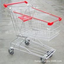 廠家批發超市豪華購物車人字腳購物車線腳購物車電梯輪購物車