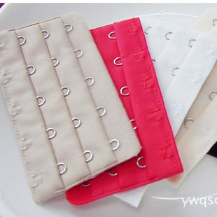 Wholesale three-row five-button bra adjusting buckle, underwear buckle, women's bra with long buckle, a total of 19 colors can be customized