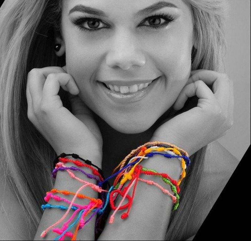 18色手工丝线红绳 尼龙手工编制十字架手链手绳 rosary bracelet