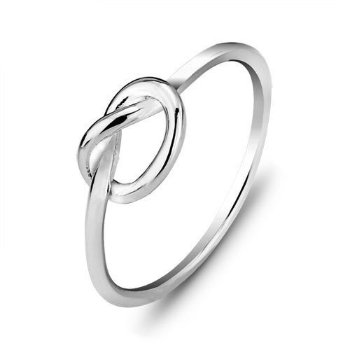 925 Sterling Silver Classical Simple Minimalist Infinity ...