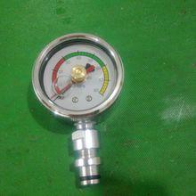 樂清柳市生產綜采支架礦用雙針耐震壓力表BZY-60/60/80  DN10