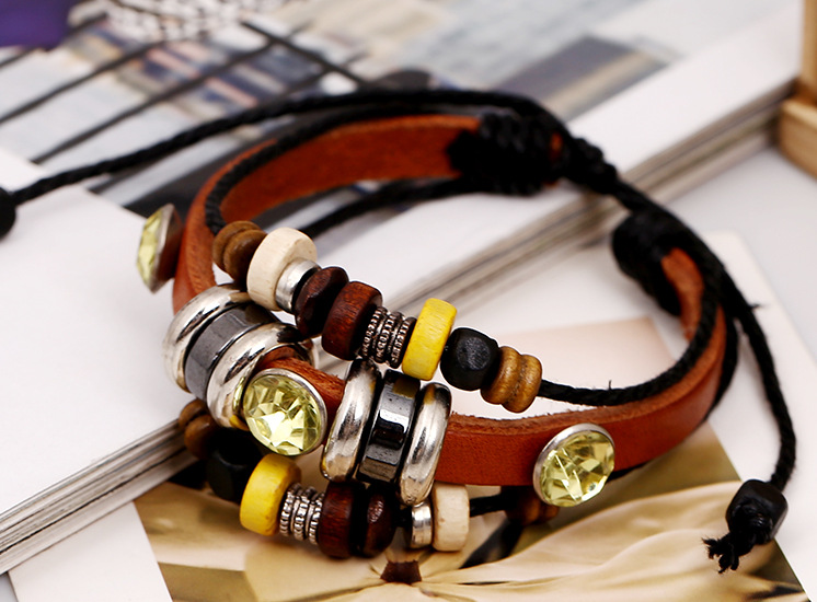 New bracelet beaded leather bracelet personalized jewelry lovers jewelry NHPK178114