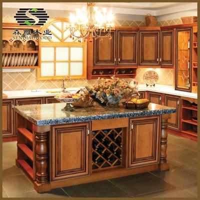 厂家定制厨房整体橱柜 实木橱柜 欧式整体橱柜 橱柜门定做