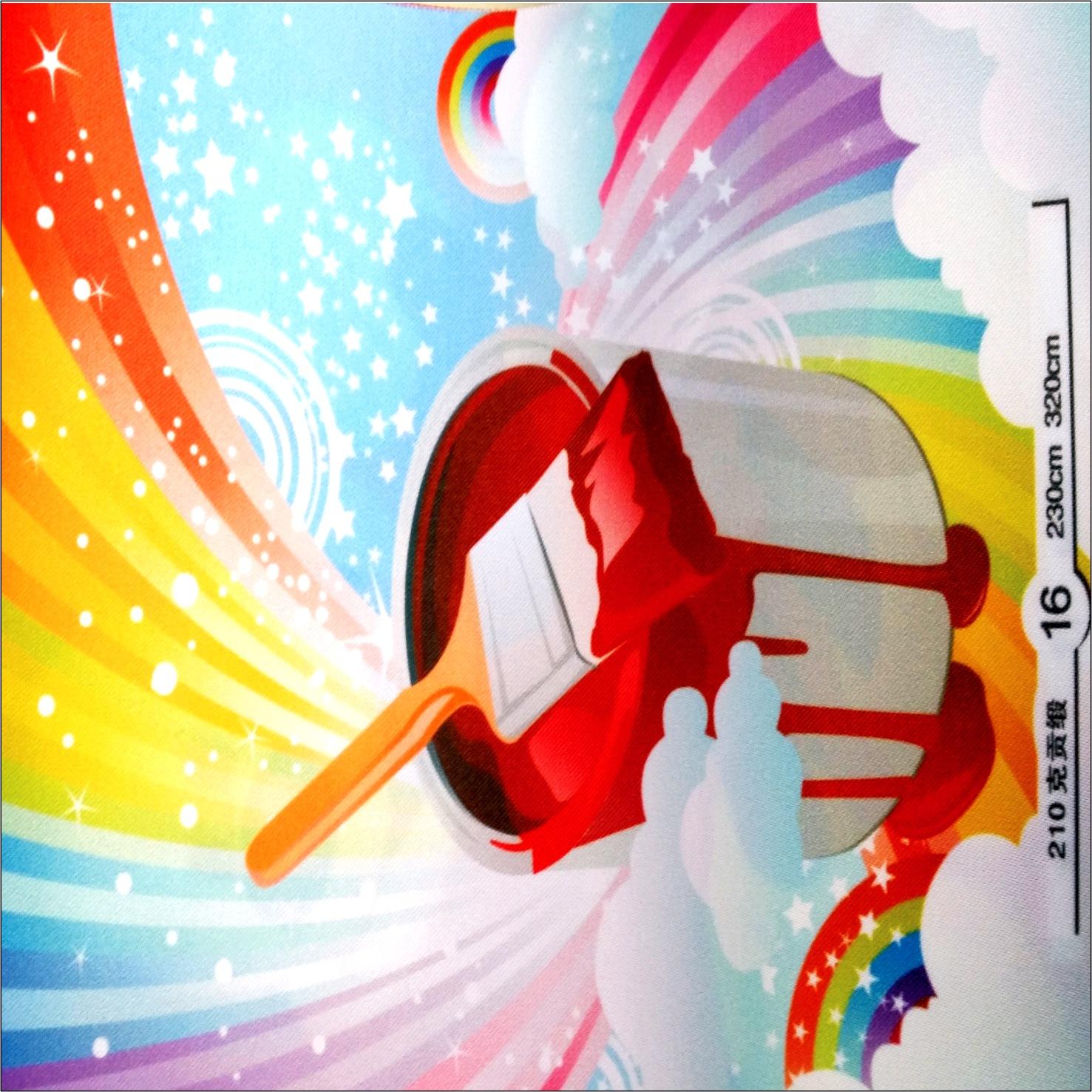 厂家直销宽幅数码直喷布热升华旗帜布320广告条幅专业生产批发
