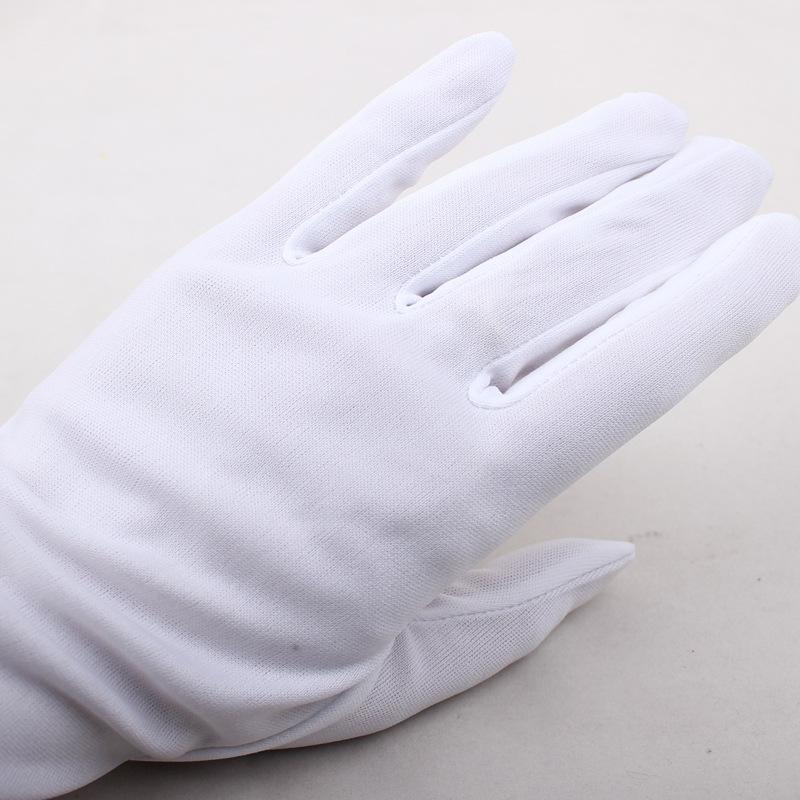 供应批发定做博雅礼仪白色手套涤纶平口礼仪手套厂家直销量大从优