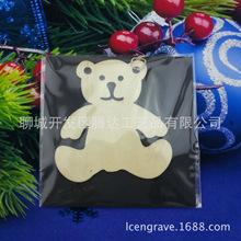 小熊木掛件激光雕刻鏤空動物木片兒童益智環保木質玩具廠家熱賣