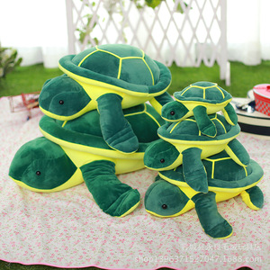 绿毛龟公仔毛绒玩具乌龟滑雪玩具防护公仔儿童玩具睡眠娃娃 动漫