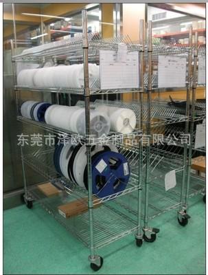 深圳光明新区防静电物料架 电子料盘存放架 车间物料周转车厂家