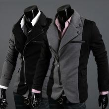 Áo khoác nam thời trang, thiết kế khóa kéo tiện lợi, mẫu Hàn Quốc