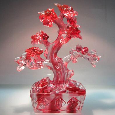 招财树,琉璃工艺,风水艺术摆 新居结婚开业送礼  办公商务摆件