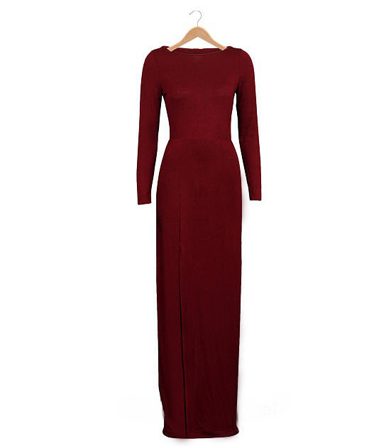 Polyester Fashiondress(Red-S) NHDF0212-Red-S