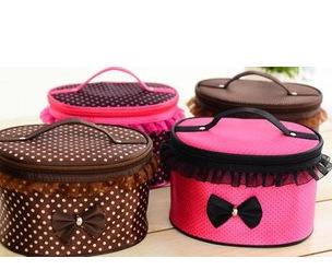 Factory direct sale new lace bag cylinder bag cosmetic bag toiletry bag handbag compressible waterproof large capacity