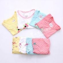 2014新款華貝妮童裝專柜正品 夏 竹纖維女童短袖套 兒童家居服