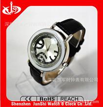阿拉伯数字合金大表盘防水手表配硅胶带  手表生产厂家