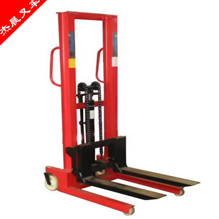 现货!液压叉腿升降叉车 0.5-3t/1.6m 手动液压堆高车 液压装载机