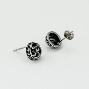 BOHO厂家直销 钛钢耳钉 韩版耳饰 潮流饰品 时尚大方钛钢饰品