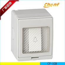 正品供应宾馆门铃开关CFL-1GB 一位墙壁防水门铃 单开门铃开关