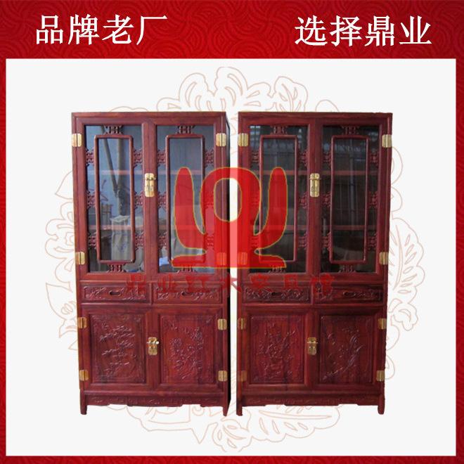 中式仿古红木书柜红檀书柜 红木明式书橱 小叶红檀书架 陈列柜