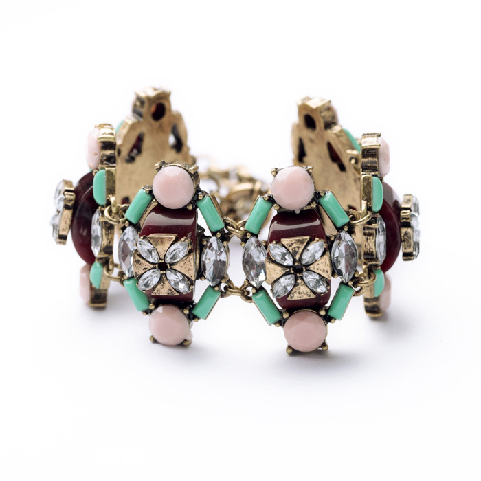 Fashion earring jewelry wholesale retro luxury wild colorful ladies bracelet NHQD187950