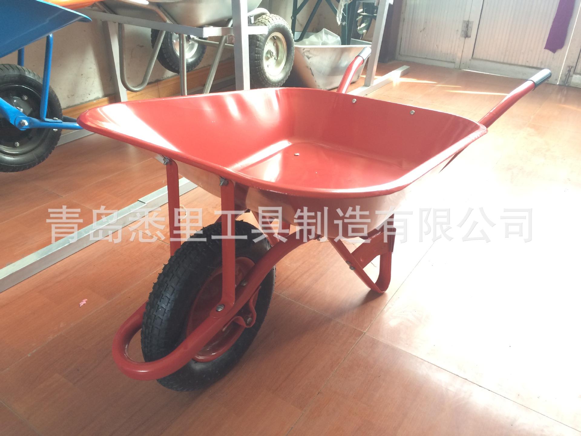 厂家供应出口印尼,马来西亚市场高品质独轮铁斗手推车WB6508