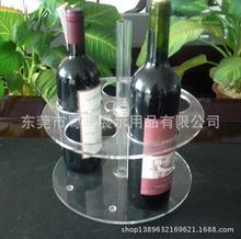 歡迎來圖定制各種規格展覽道具 有機玻璃紅酒展示架酒品展示架