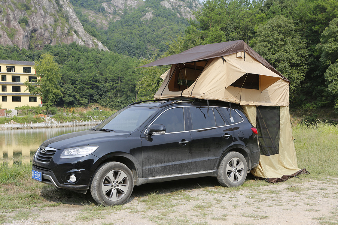 undefined & Outdoor Camping Tent Traveling By Car The Soft Top Canvas Tent ...