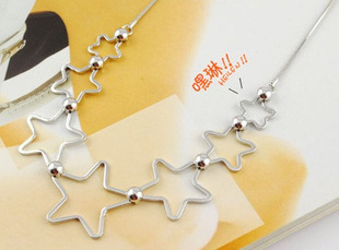 Factory wholesale Korean jewelry Star Love Clavicle Chain Fashion Seven Star Necklace Female