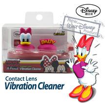 迪士尼卡通隱形眼鏡電動清洗機帶伴侶盒雙聯盒子納米銀材質