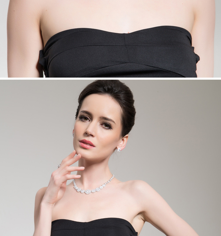 Fashion Zircon plating Earrings  (White-02A02)  NHTM0050-White-02A02
