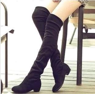 外贸大码秋冬新款高筒靴超长过膝靴子平底靴子女春秋长靴厂家批