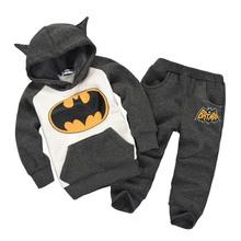秋冬季新款 男女孩童兩款衛衣上裝+褲子 蝙蝠俠款式童套裝
