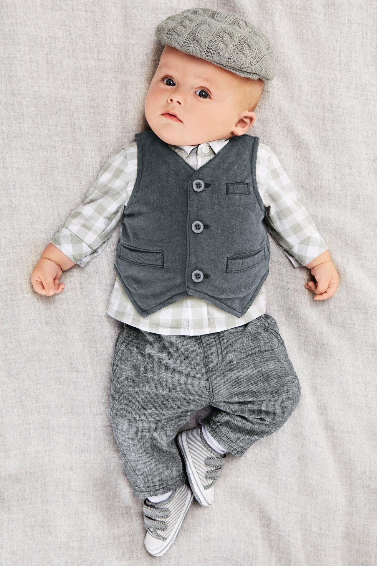 4d66168a94a82 2019 Baby Boy Clothing Set Spring Gentleman Suit Set Long Sleeved Plaid  Shirt Vest Pant Set 2016 Clothes Set For Boys Three Pieces Suits From  Abby517