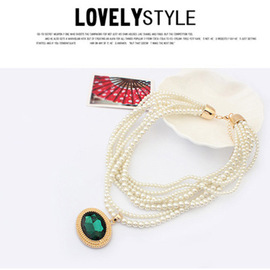 European and American Jewelry Palace retro Gem Pearl necklaces New popular Jewelry necklaces
