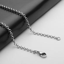 316不锈钢项链钛钢配链3MM粗珍珠链批发50CM长欧美饰品配链