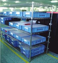 东莞厂家现货供应移动拆装不锈钢碳钢镀铬广州线网货架 一件代发