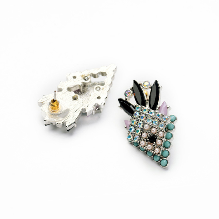 Exquisite accessories with diamond-studded women's earrings NHQD175447