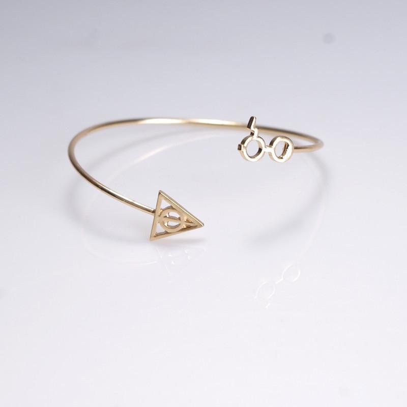 Women bracelet geometric triangle alloy NHXR174896